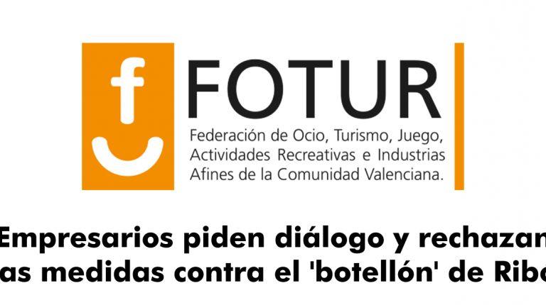 Fotur ha rechazado por insuficientes las medidas propuestas por el alcalde de València, Joan Ribó, para combatir
