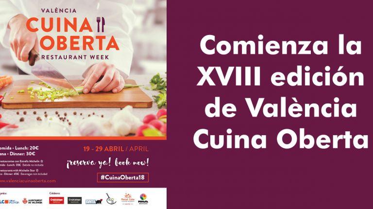 Comienza la XVIII edición de València Cuina Oberta